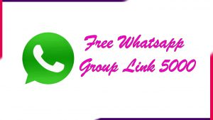 Read more about the article Free Whatsapp Group Link 5000 | Active Group 2021